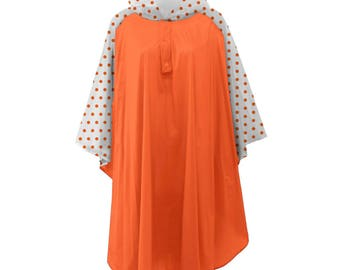 Orange Poncho! Monogramming Available! Great for rainy game days!!!