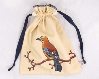 Forest Jay Pouch: ready to sew kit