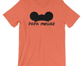 Papa Mouse Mickey Men's Short-Sleeve Unisex T-Shirt