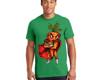 Super Carrot Tshirt, Tee, Shirt, Gift for Her, Gift for Him