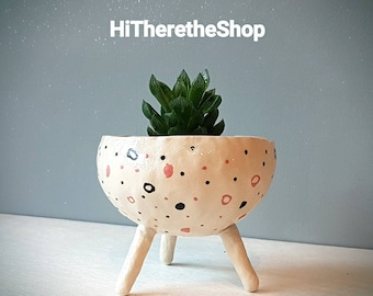 SPECIAL OFFER!! The Spotty Dotty Collection - handmade Ceramic planter, succulent pot, cactus pot, plant pot, home decor, pinch pot.