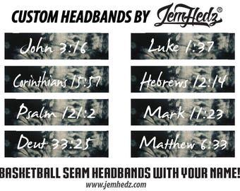 Bible Verse Black Tie Dye Headband