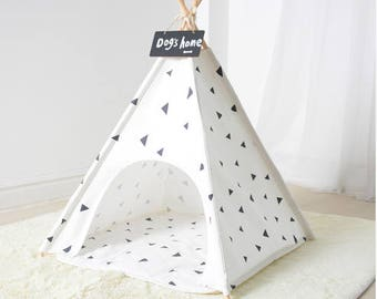 Small Pet Teepee Tent - Warm u0026 Cozy Soft Bed Padding For Dogs Cats  sc 1 st  Etsy & Pet teepee | Etsy