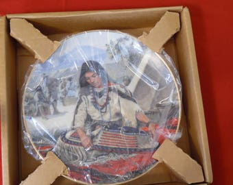 Sacajawea Plate Noble American Indian Women Plate 1989 by David Wright Certificate of Authenticity included