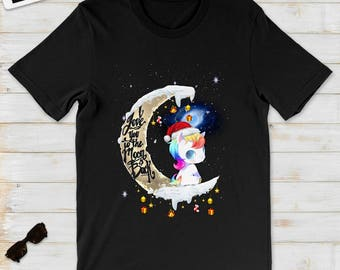 I Love Unicorn To The Moon And Back