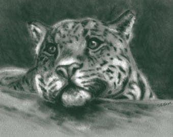 Black and White Wall Art - Animal Picture - Leopard Print - Leopard Painting - Leopard Picture - Animal Print - monotone decor
