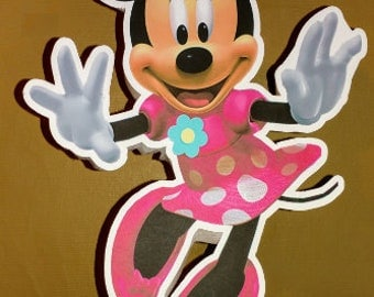 Minnie Mouse Table Centerpiece/ Any Character Centerpiece/ personalized centerpiece