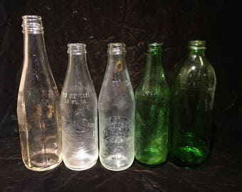 Vintage 1967 glass bottles