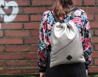 "Gymnastic bag Gym Bag ""AVANA silver"" (Size xs)"