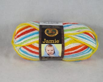Skein of Caribbean Stripes Jamie Yarn - Lion Brand Yarn