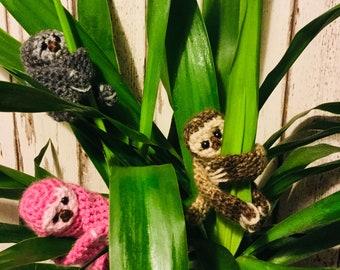 Cute crochet sloths