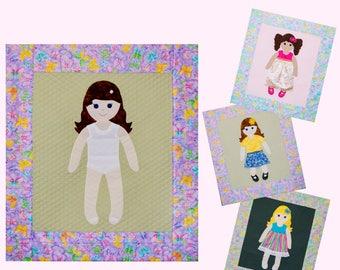 A Paper Doll Quilt Pattern DIGITAL DOWNLOAD