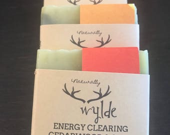 Energy Clearing CEDARWOOD & SAGE handcrafted all natural soap.