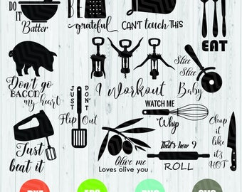 Kitchen Svg Bundle,Kitchen Svg, Kitchen Bundle Svg, Baking Svg, Kitchen Quotes, Svg Bundle, Fun Kitchen Sayinfs, Funny Svg, Kitchen Towels