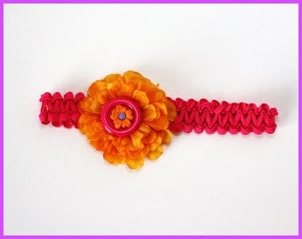 Pink Carnation Flower Headband