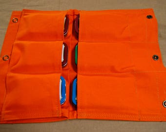 Bushcraft pouch 7 pockets. First Aid Kit Pouch.  Hiking, Camping, Fishing, Hunting, First Aid, General Household.
