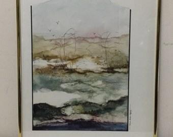 Joanne Miller Rafferty - Original Signed Mixed Media Watercolor Landscape Listed