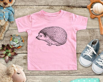 Hedgehog graphic Illustration Zoo animal wild kingdom Shirt - Baby bodysuit Toddler youth Shirt cute birthday baby shower gift