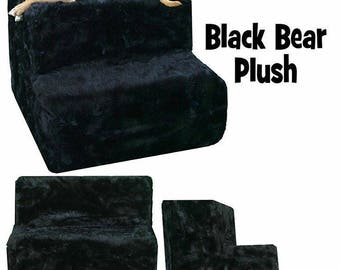 Brown or black bear pet steps. Pet stairs, dog stairs, cat stairs, plush pet, posh, quality, pet gift, new pet, puppy gift, pet supplies