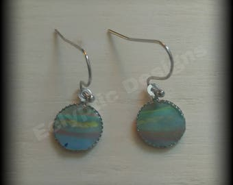 One of a kind acrylic skin earrings