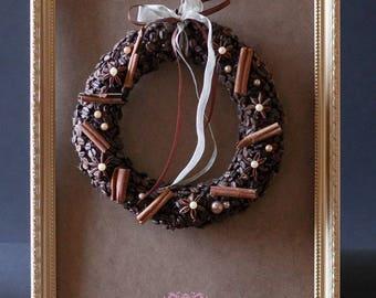 Handmade Coffee Beans Wreath, Cute,Christmas Decor , Coffee Beans, Coffee  Lovers, Valentine's Day , Home Decor, Wedding Decor, Table Decor