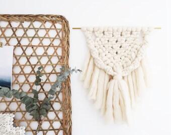 Large macramé wool ecru XXL - Cauterets