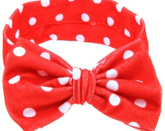 Red polkadot headband