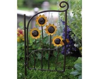 Fairy Garden - Sunflower Gate - Mini Garden Accessories