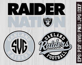 Oakland Raiders SVG Files, Oakland Raiders Logos, Football Logos, Football Die Cut SVG, Cutting Machine Files, Decal Vinyl * SVG2