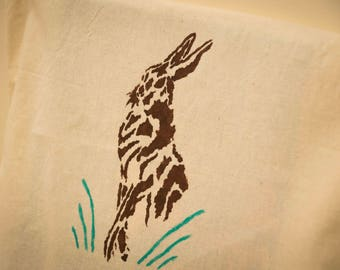 Spring hare cotton bag