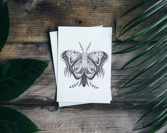 The Amorous Heart Butterfly - A4 print
