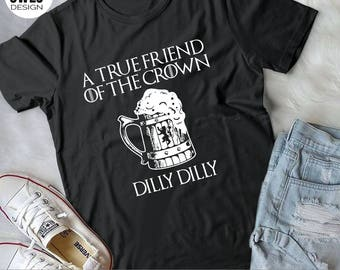Dilly Dilly Shirt, To The Pit of Misery Dilly Dilly, Gift Shirt for Beer Lovers, pit of misery, beer drinker shirt, true friend of the crown