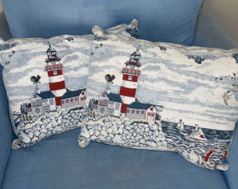 Lighthouse Pillow Set