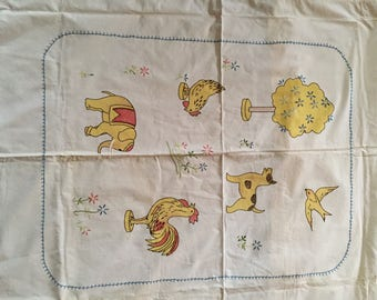 A crib or child's quilt.