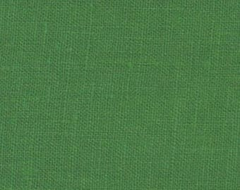 Kelly Green Solid Linen Fabric / Textiles / Fabric by the Yard