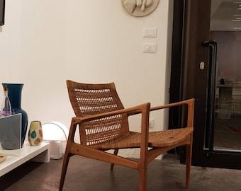 Kofod Larsen pair of teak easy chairs