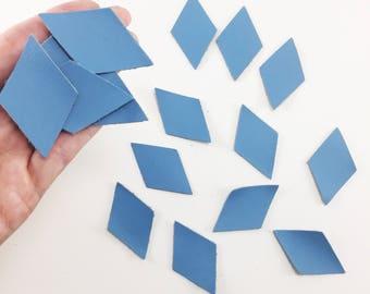Symmetrical Diamond Shape Leather Applique // You Choose Color // Diamond Die Cuts // Leather Crafts // Leather Cut Outs // Leather Pieces