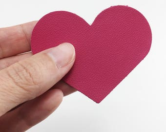 Heart Leather Appliques // 3 Sizes // Choose Your Colors // Heart Die Cuts // Valentines Cut Outs // Leather Hearts // DIY Valentine // Love