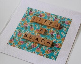 Life's a Beach Scrabble Art
