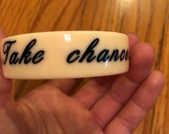 Vintage Two's Company inspirational bangle bracelet