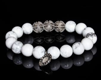 Poker bracelet - Mens Bracelet, Mens Jewellery, Silver Bracelet, Men Luxury Jewellery, Men Beaded Bracelet, Men Gift, Boyfriend Gift
