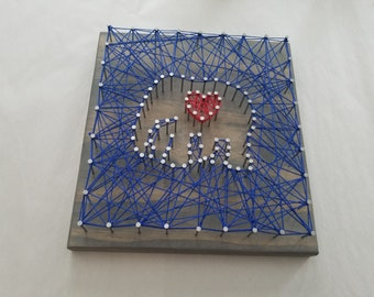 String Art Kit-Reverse Elephant with heart