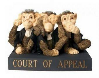 Court of Appeal Monkeys - Figurine