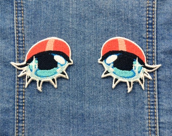 Anime Eyes Iron-On Patch