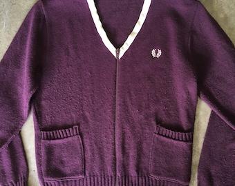 Vintage Fred Perry zip up cardigan