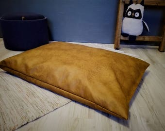 Luxury dog bed, playmat for children, leather