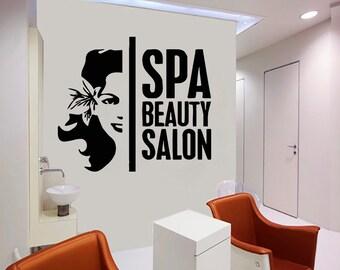 Wall Decal Window Sticker Beauty Salon Spa decal massage decal spa salon decals t84