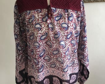 70's vintage dead stock indian blouse