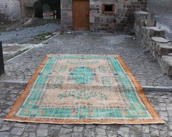 turkish home decor rug 7.3x 10.8 ft. Free Shipping Oushak Rug Large Rug Boho Rug floor rug bohemian rug handmade turkish rug MB183