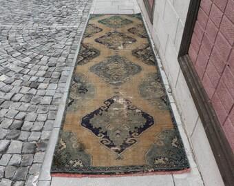 Free Shipping handmade runner rug oushak rug natural color aztec rug 3.2 x 11.2 ft. turkish rug bohemian rug anatolian rug aztec rug MB386